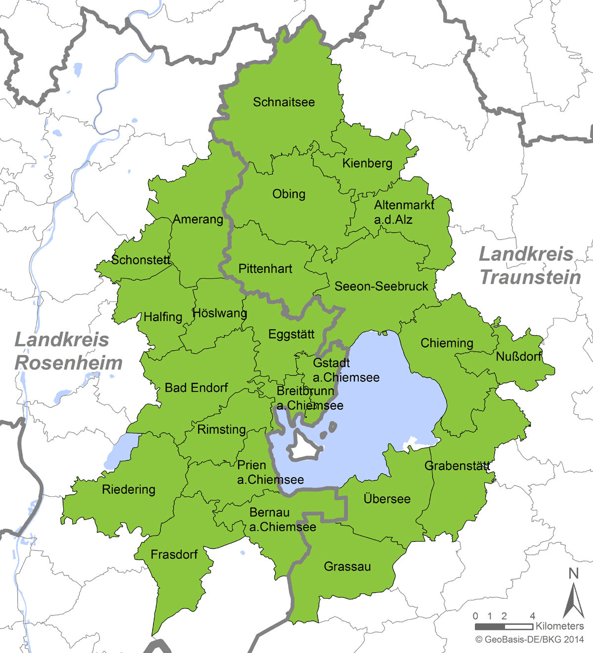 Chiemsee Karte.Die Lokale Aktionsgruppe Lag Chiemgauer Seenplatte